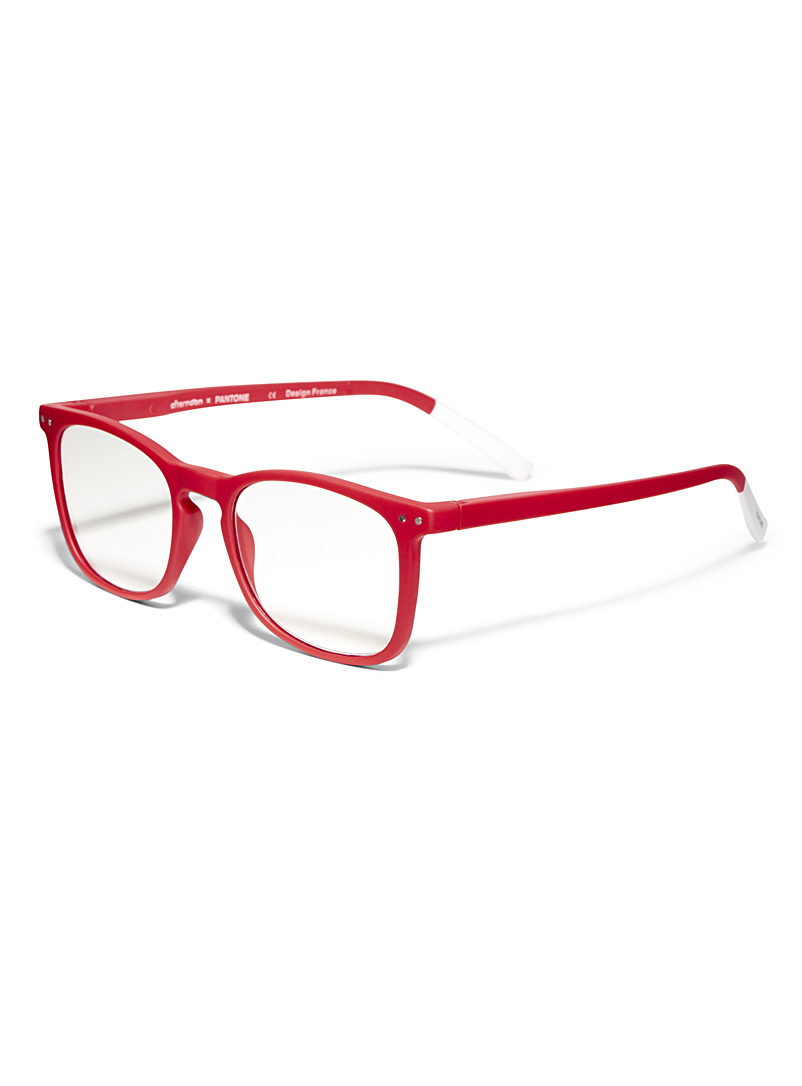 Matte square reading glasses - Reading Glasses - Red