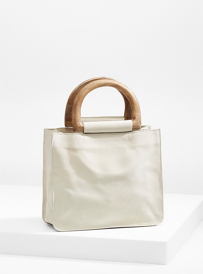 St. Agni Ivory White Agnes small tote for women