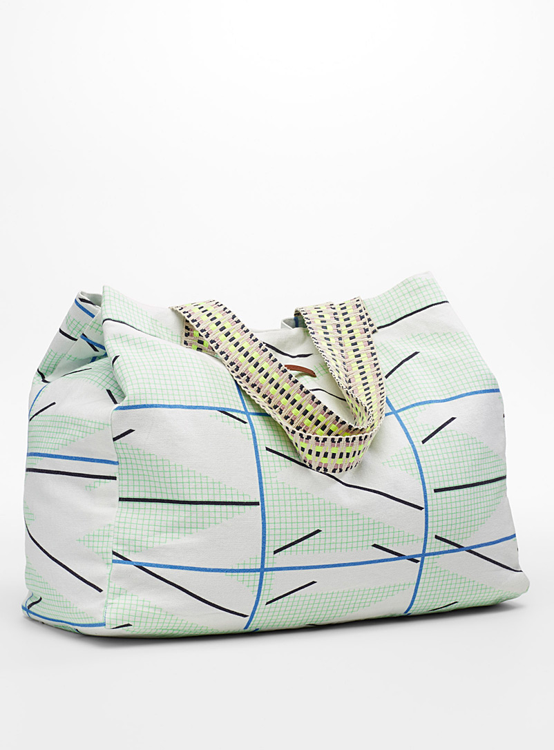 Miami tote - Tote Bags - Patterned Green