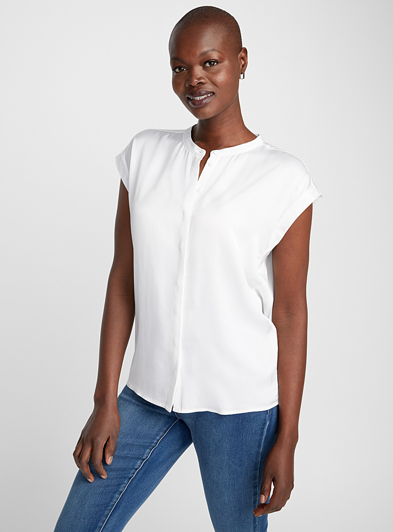 Myk loose fluid blouse - Blouses - White