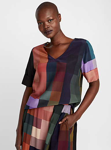 Cubo chromatic block blouse
