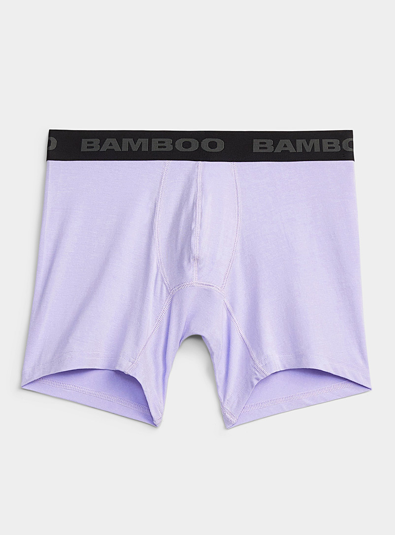Bamboo Underwear Black Solid bamboo rayon trunk for men