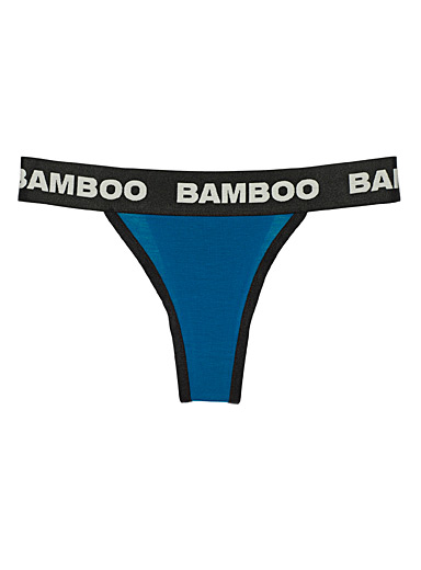 Bamboo logo band thong