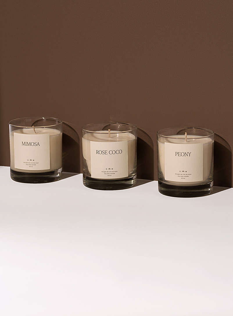 Dimanche matin White Botanical candle set