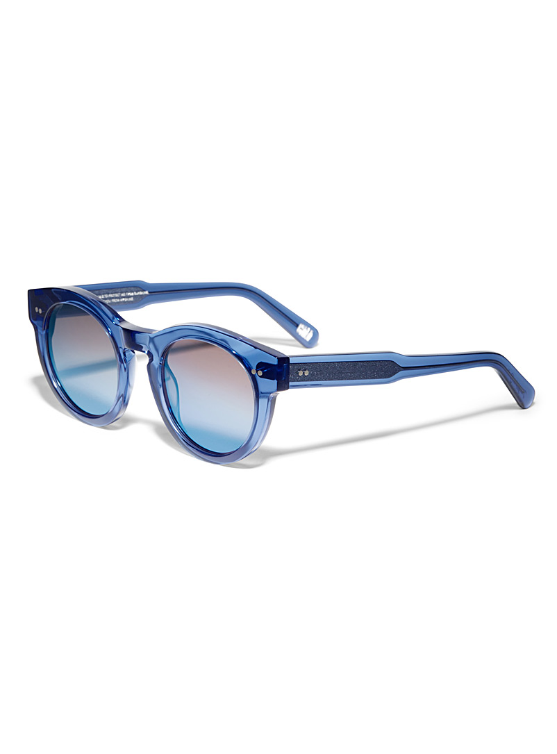 CHIMI Pink Translucent round sunglasses for women