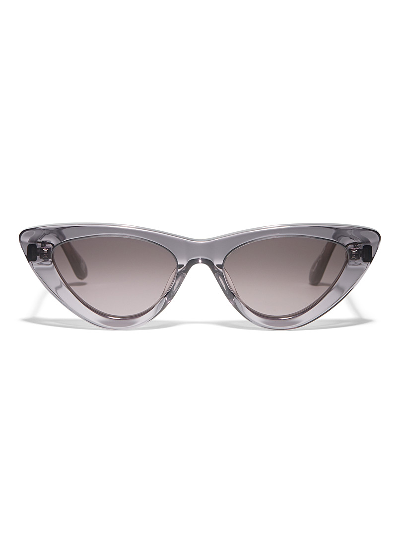 Translucent cat-eye sunglasses - Designer - Silver