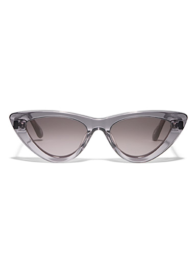 Translucent cat-eye sunglasses