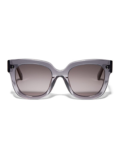 XXL translucent square sunglasses