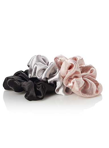 Shiny satin scrunchies  Set of 3