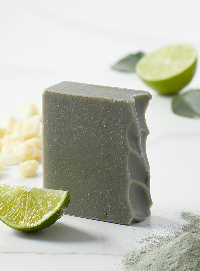 Les Savons Milca Green Green clay and lime soap