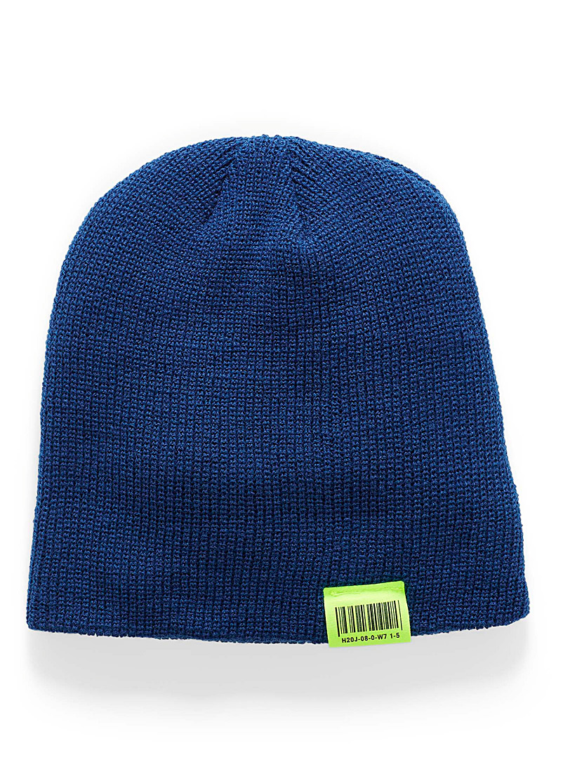 Simons Sapphire Blue Neon accent cuffed tuque for women
