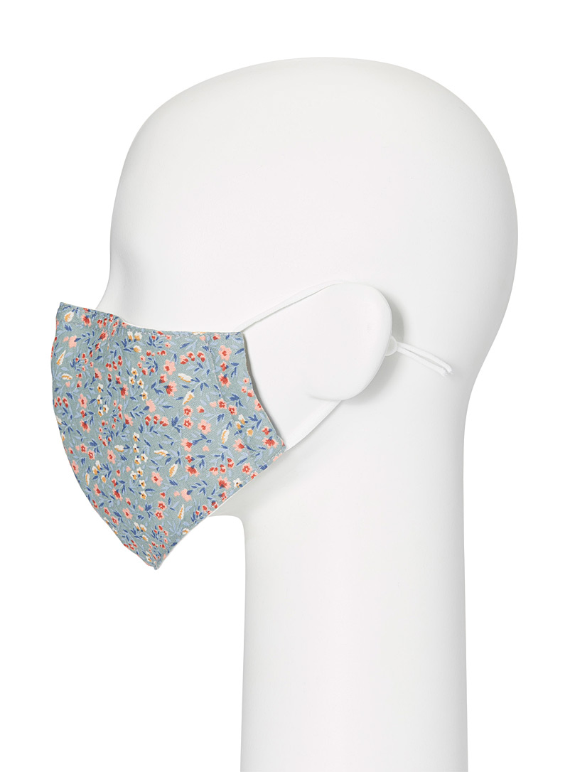 Simons Pink Floral-print fabric face mask for women