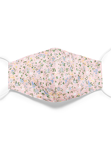 Simons Patterned Red Floral print fabric face mask for women