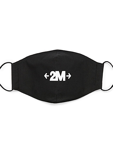 Typographic message fabric mask