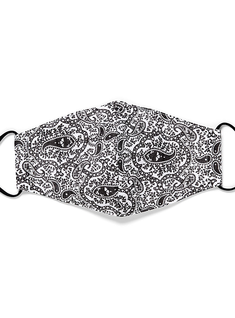 Simons Assorted black Paisley mask for women