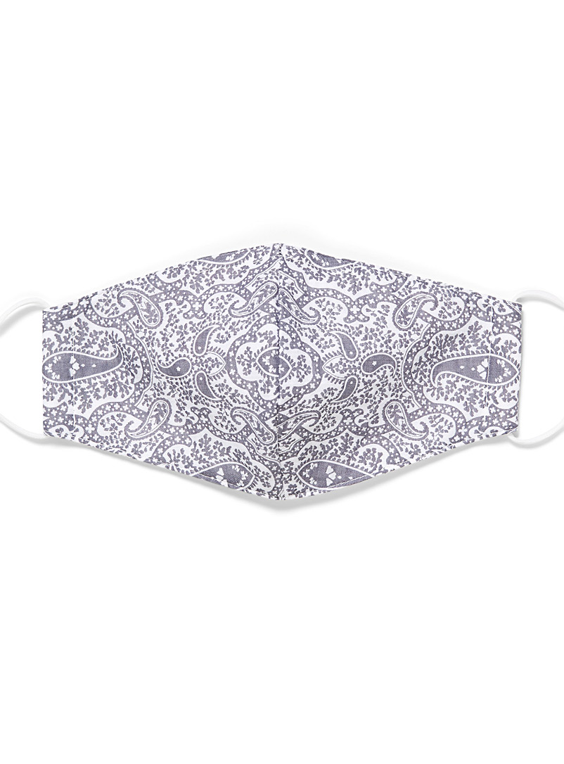 Simons Assorted grey Paisley mask for women