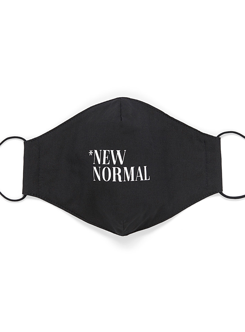 Le 31 Black New Normal face mask for men