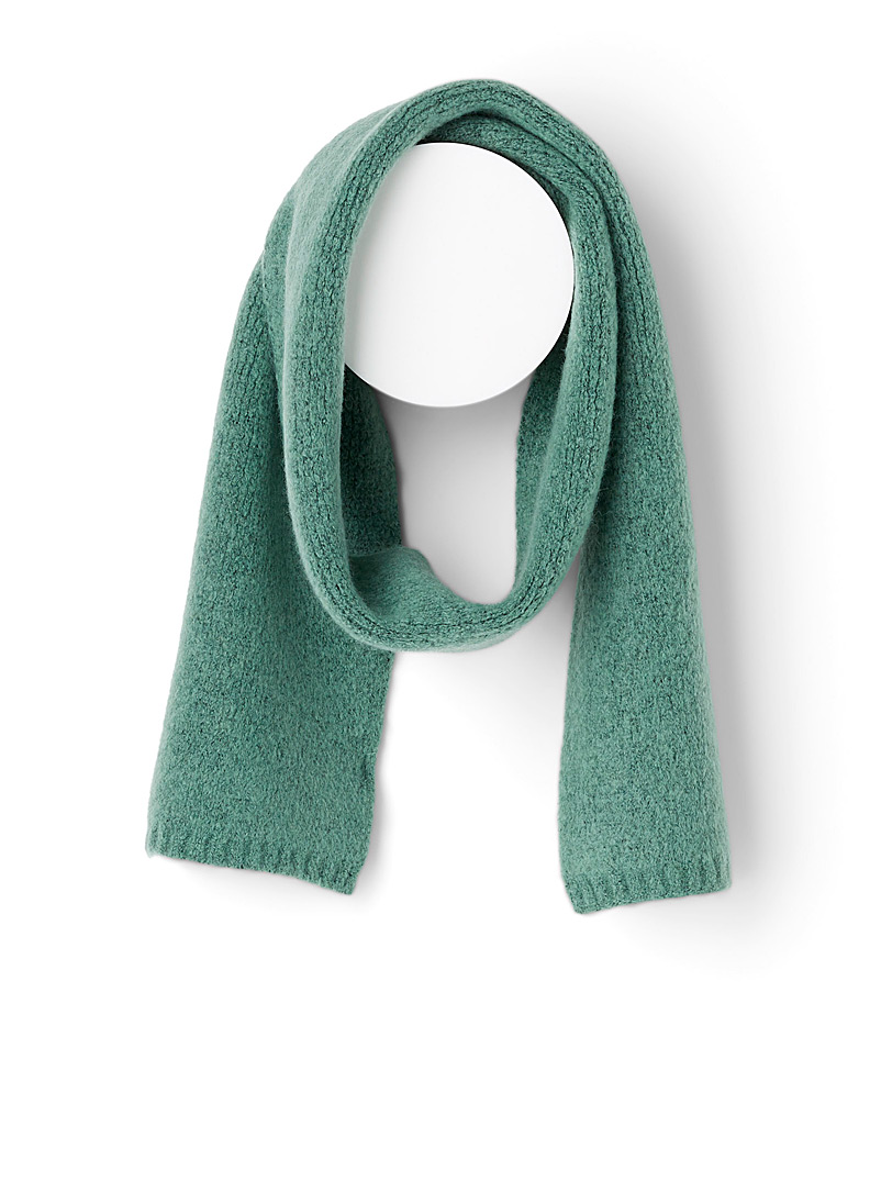Brushed-like wool scarf - Winter Scarves - Green