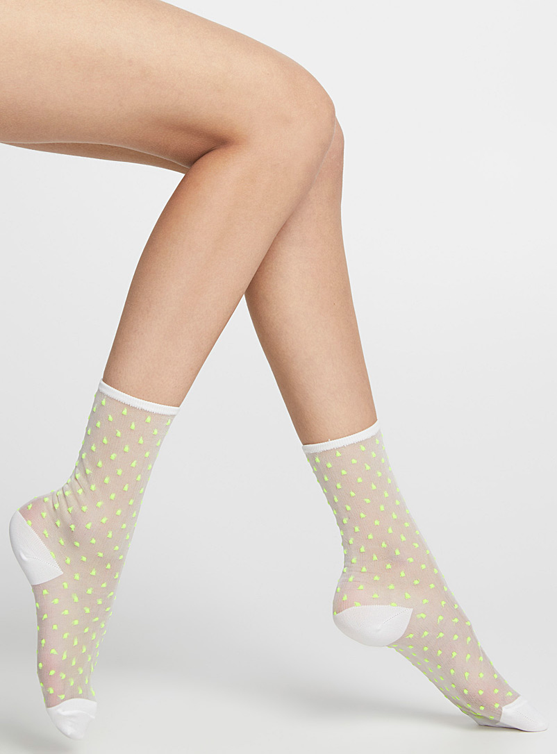 Sheer dot socks