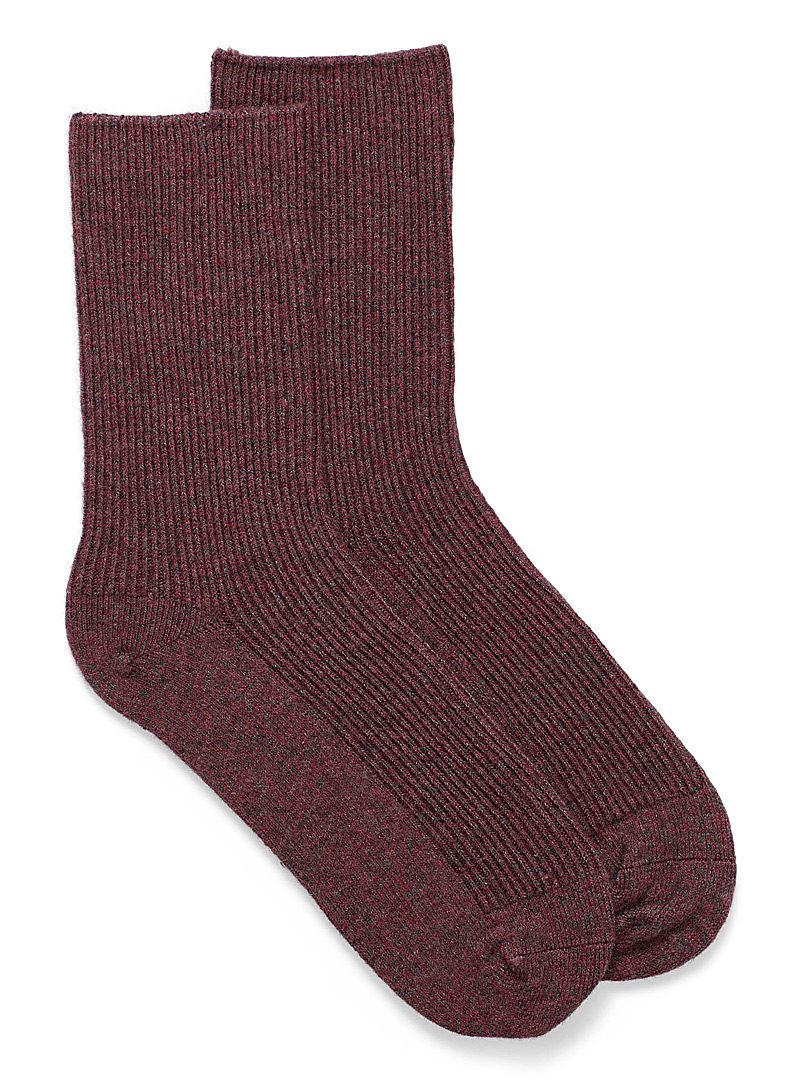 Simons Grey Touch of wool essential socks for women