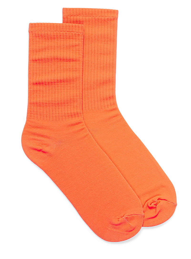Neon socks - Socks - Orange