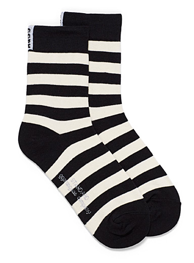 Twin-stripe ankle socks
