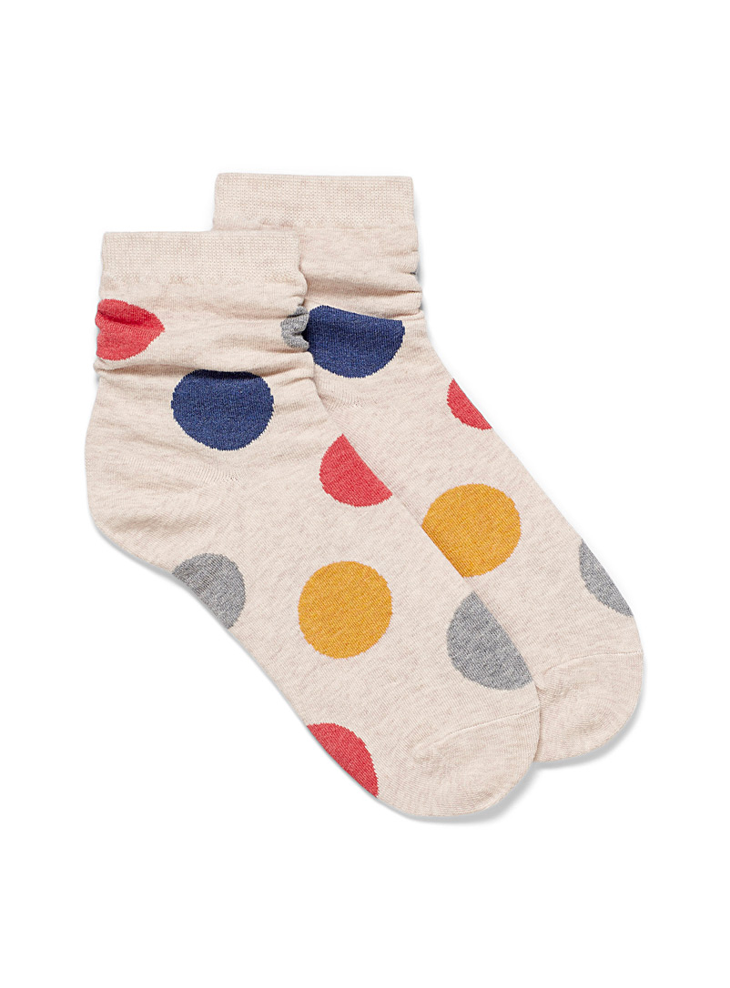 Simons Blue Giant dot ankle socks for women