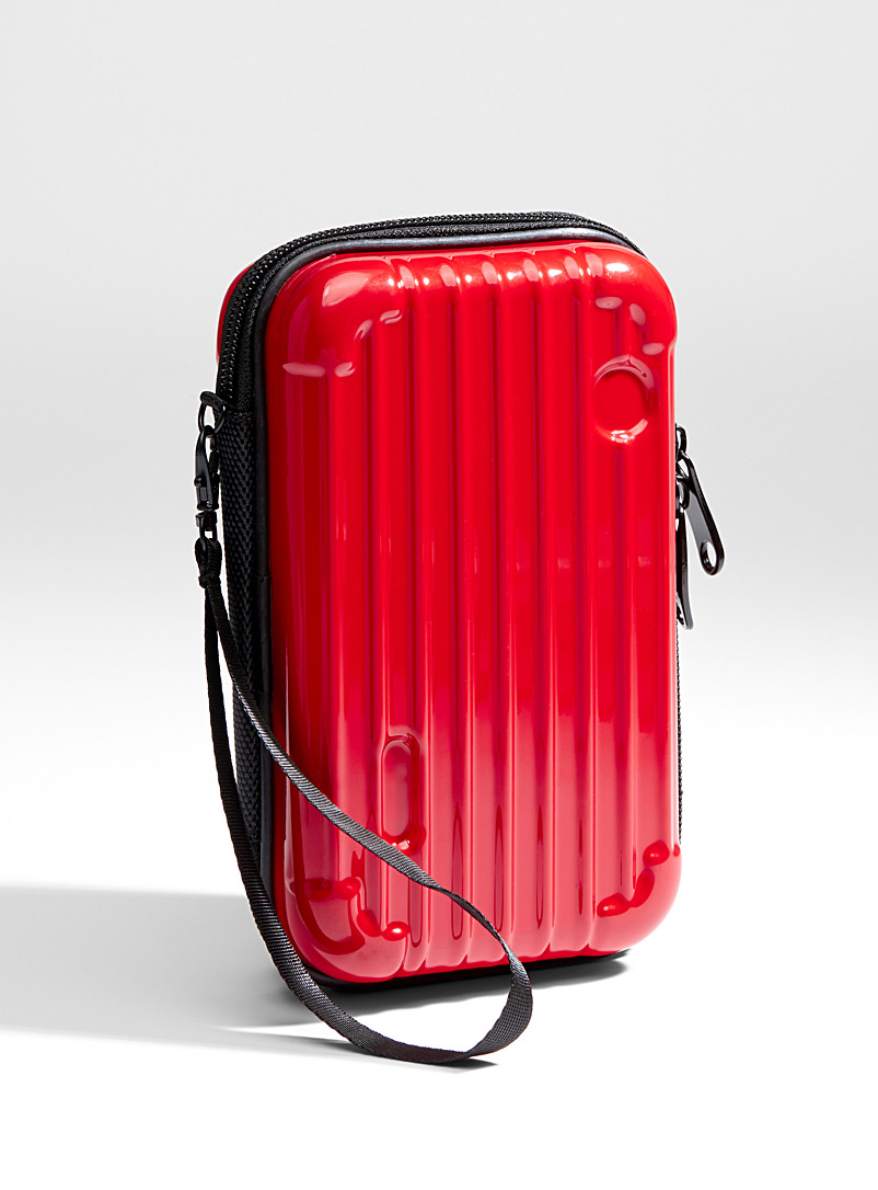 Rigid cosmetics case - Travel makeup bags - Red