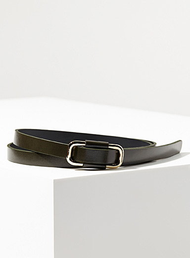 Minimalist narrow belt