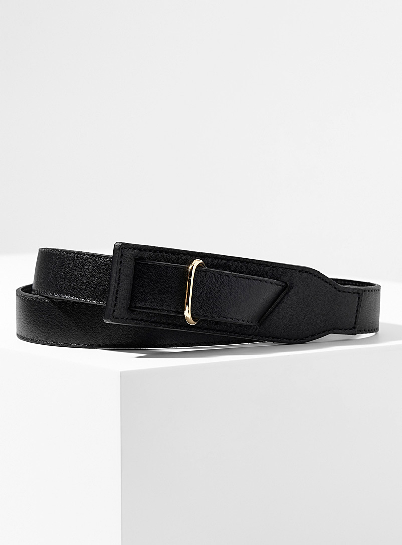 buckle-less-leather-belt