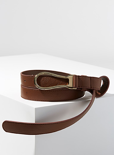 Equestrian buckle belt