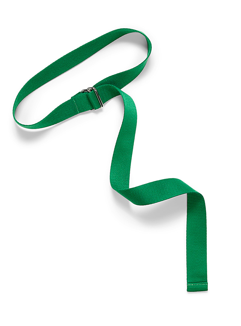 Simons Green Rectangular buckle strap belt for women