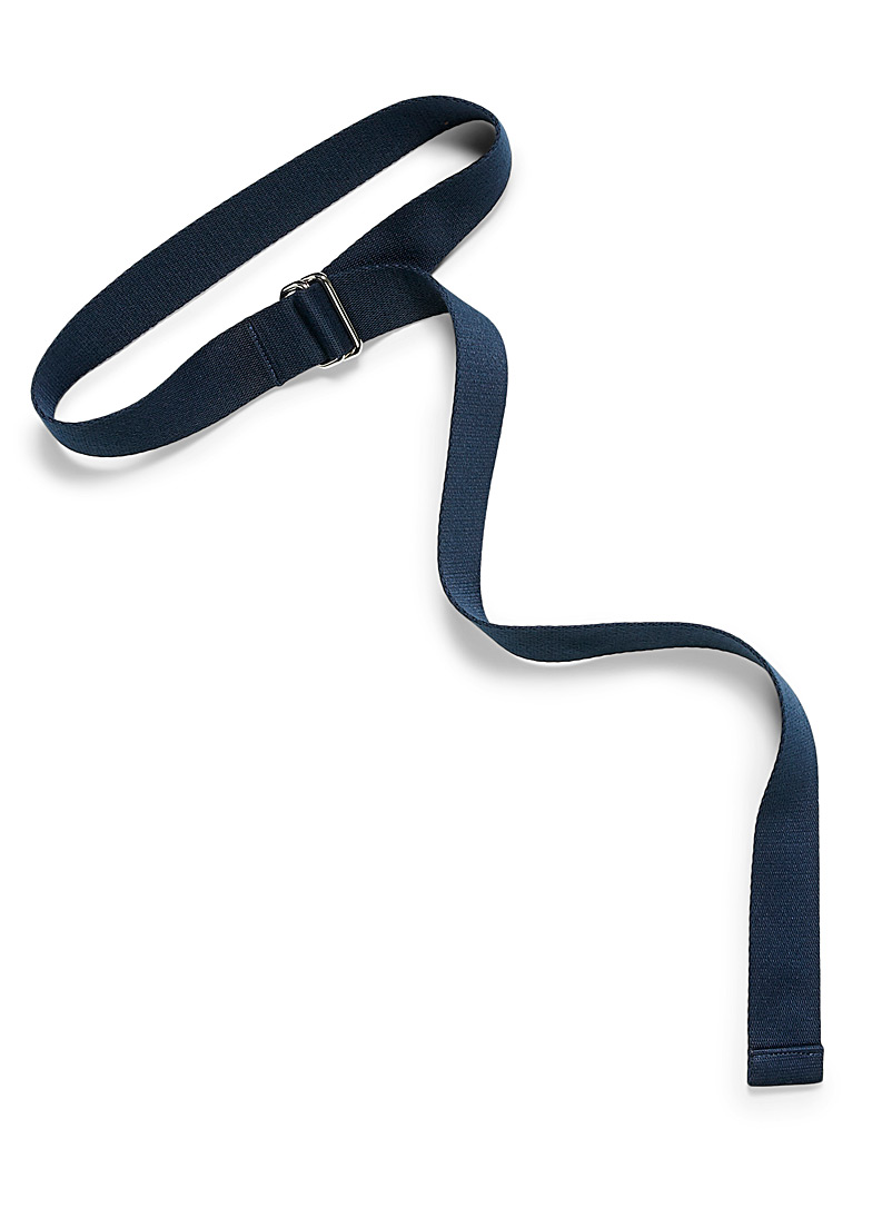 Simons Marine Blue Rectangular buckle strap belt for women