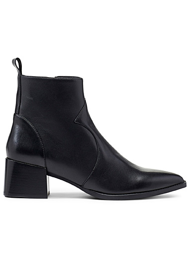 Sanni leather heeled boots