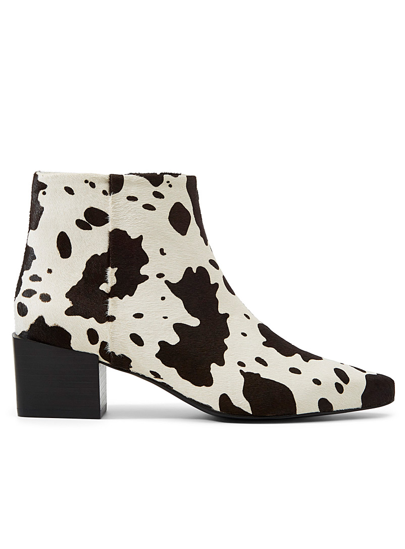 Katie III spotted boots - Heels - Patterned White