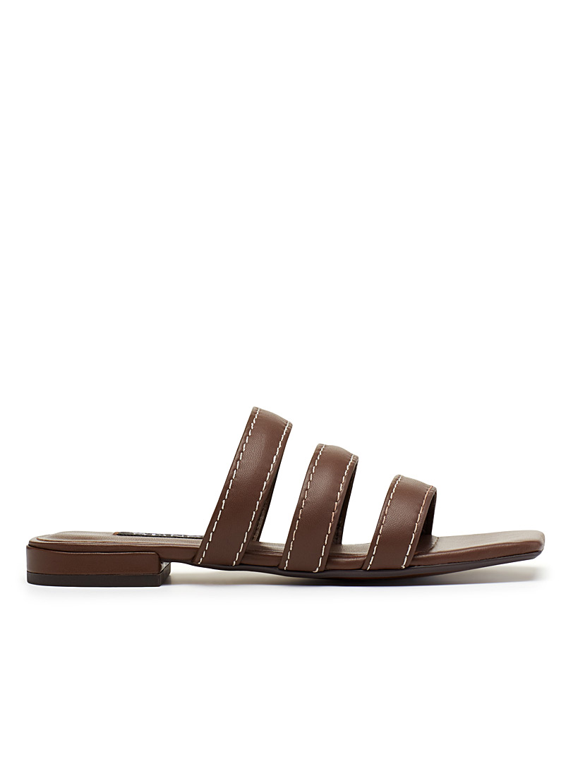 Hallee parallel strap sandals - Sandals - Fawn