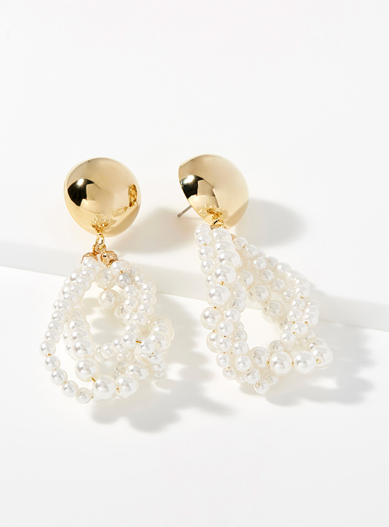 Pearl sphere earrings - Earrings - Assorted