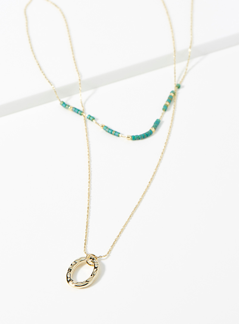 Hammered O multi-tie necklace - Necklaces