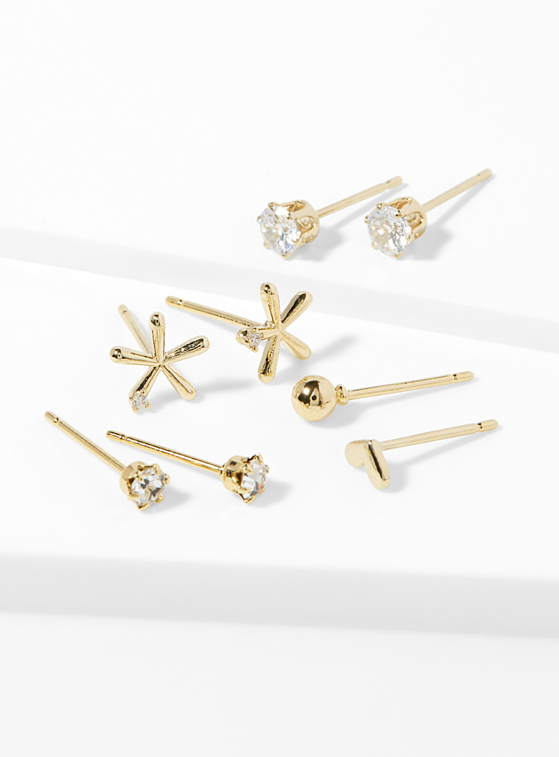 Twinkling star earrings  Set of 3 - Earrings - Assorted