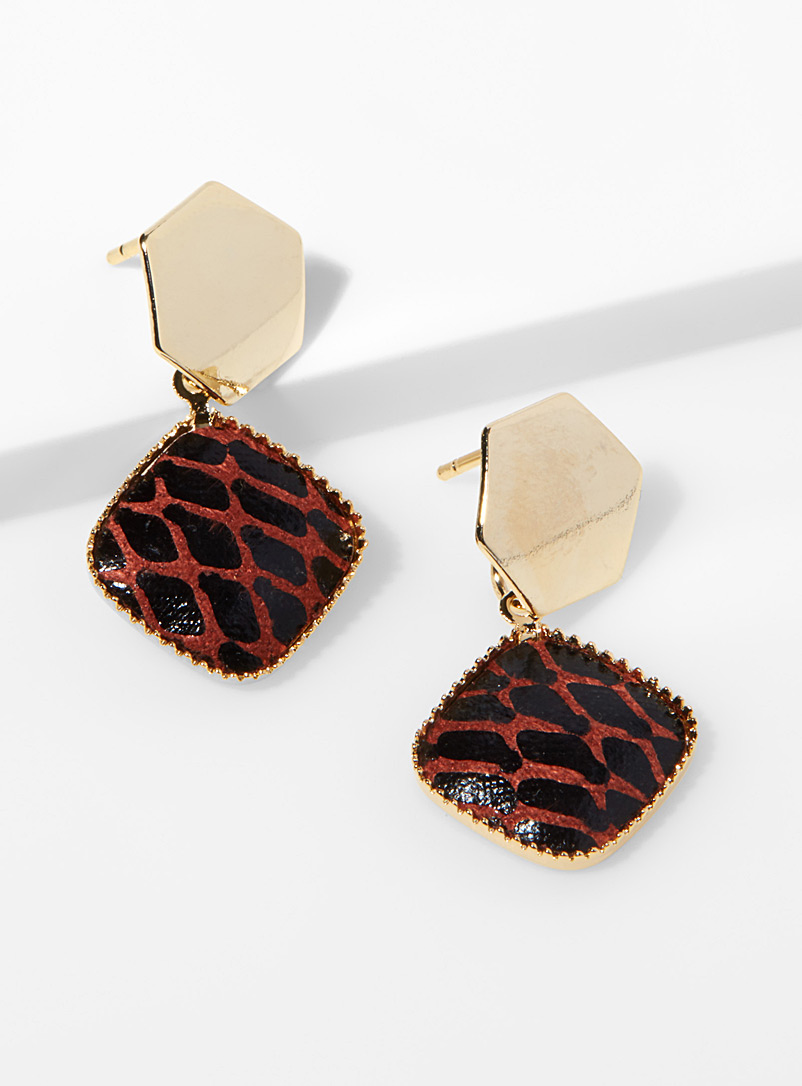hexagon-and-python-earrings