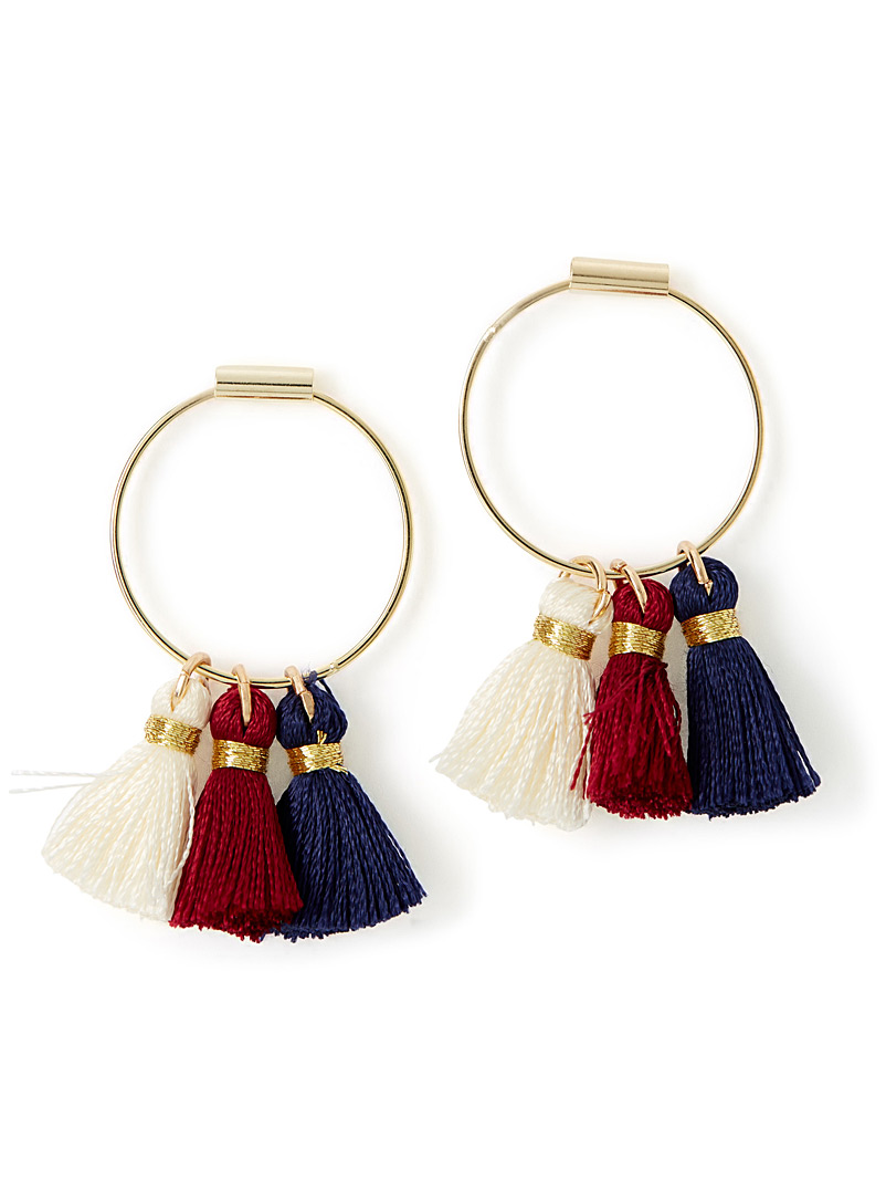 Three-tassel earrings - Earrings - Assorted