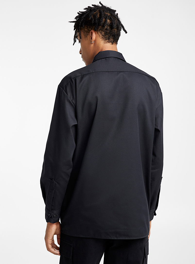 Worker shirt - Long sleeves - Black