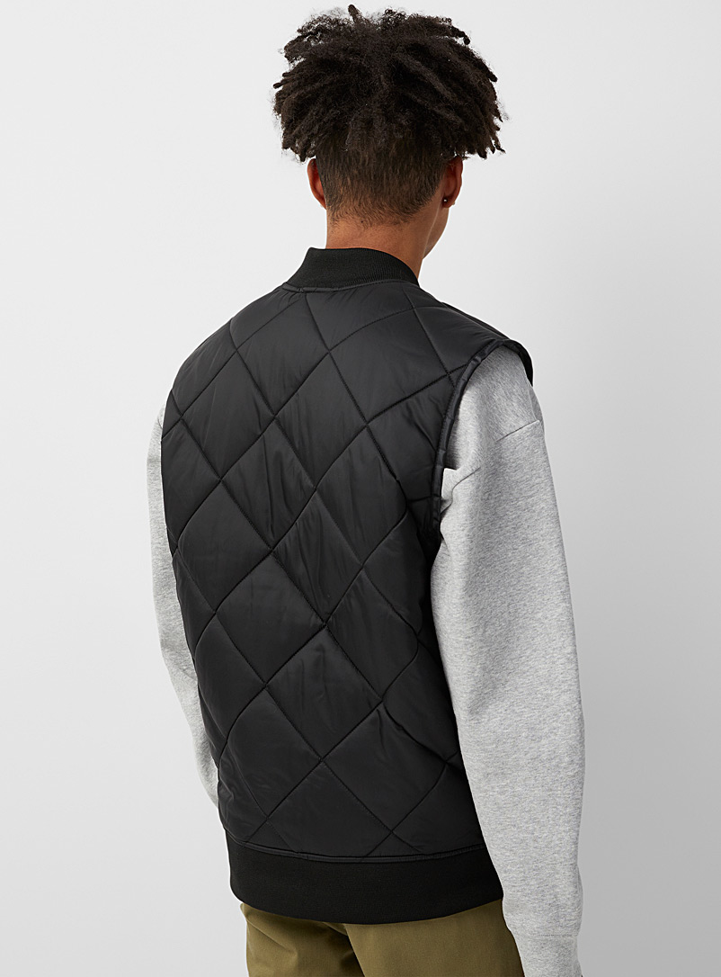 Dickies Black Quilted workwear vest for men