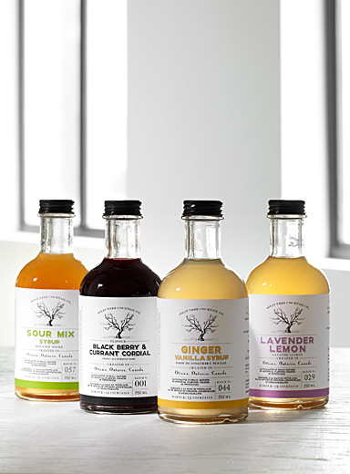 Split Tree Cocktail Co. Assorted Cocktail syrups with sour mix