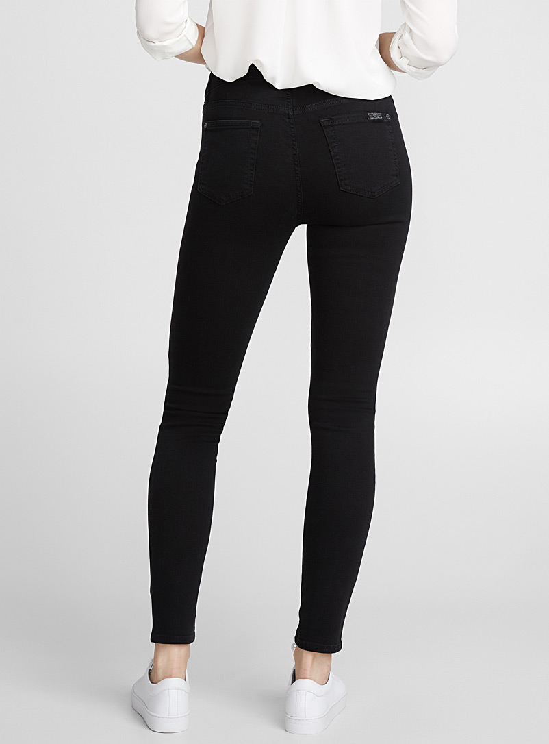 7 For All Mankind Black Black high-rise skinny jean for women