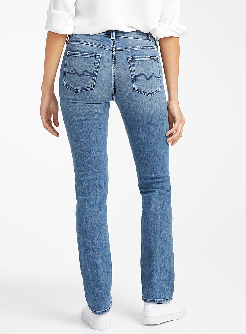 7 For All Mankind Slate Blue Faded Kimmie straight jean for women