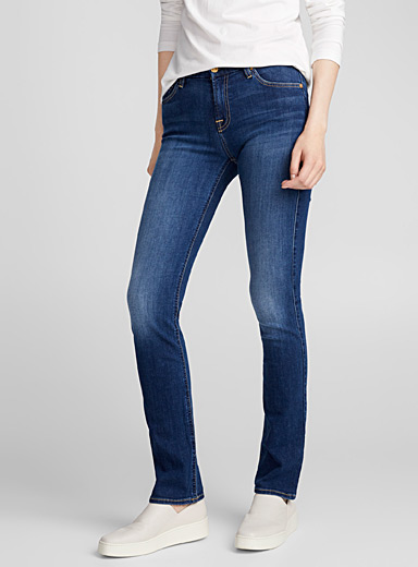 Kimmie medium wash straight jean