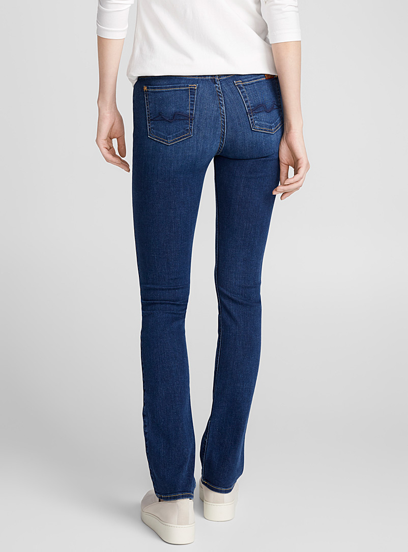 7 For All Mankind Slate Blue Medium wash Kimmie straight jean for women