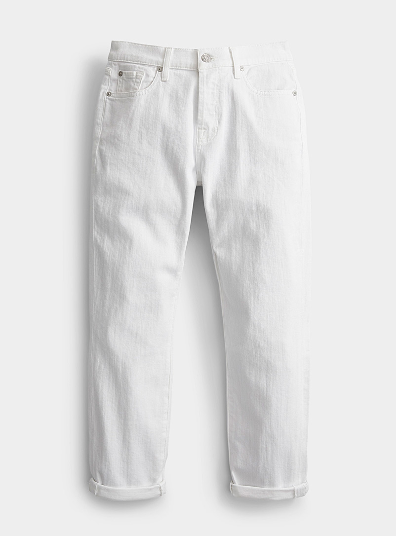 7 For All Mankind White Josefina feminine boyfriend jean for women
