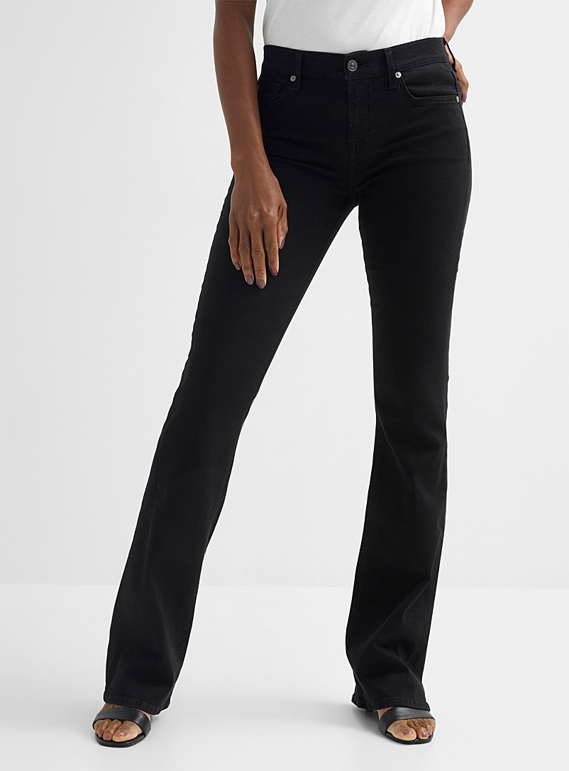 7 For All Mankind Black Black bootcut jean for women